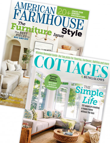 Cottages & Bungalows and American Farmhouse Style Print Combo Offer