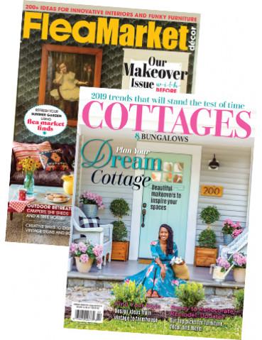Flea Market Décor and Cottages & Bungalows Print Subscription combo